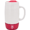 Image for LXG Inc. Bucky Badger Ceramic Tumbler (Cream/Red)