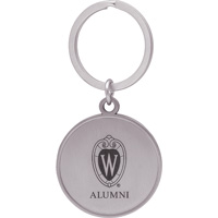 Image For LXG Inc. Wisconsin Alumni Key Chain (Silver)