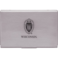 Cover Image For LXG Wisconsin Carbon Fiber Business Card Holder (Silver)