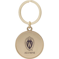 Image For LXG Inc. Wisconsin Alumni Key Chain (Gold)