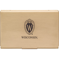 Image For LXG Wisconsin Carbon Fiber Business Card Holder (Gold)