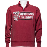 Cover Image For Gear for Sports ¼ Zip Wisconsin Sweatshirt (Vintage Red)*