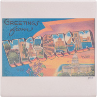 Image For Julio Designs Wisconsin Coaster