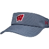 Image for Under Armour Wisconsin Armourvent Visor (Gray)