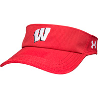 Image For Under Armour Wisconsin Armourvent Visor (Red)