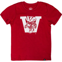 Cover Image For '47 Brand Youth Vault Bucky Badger W T-Shirt (Red)
