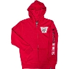 Image for '47 Brand Youth Vault Bucky Badger Zip Sweatshirt (Red)