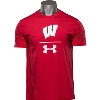 Image for Under Armour Wisconsin UA Sideline T-Shirt (Red) *