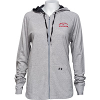 Cover Image For Under Armour Women's Full Zip Wisconsin Hoodie (Gray) *