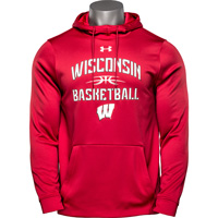 Cover Image For Under Armour Wisconsin Basketball Hooded Sweatshirt (Red)