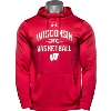 Image for Under Armour Wisconsin Basketball Hooded Sweatshirt (Red) 3X