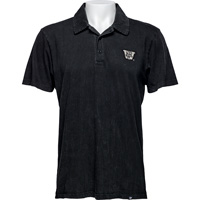 Image For '47 Brand Vault Wisconsin Polo (Distressed Black) *