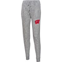 Image For Boxercraft Women's Wisconsin Cuddle Joggers (Gray)