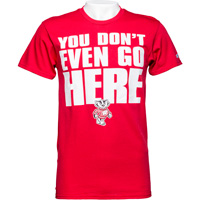 Image For Blue 84 Wisconsin You Don't Even Go Here T-Shirt (Red)
