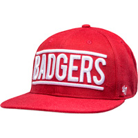 Image For '47 Brand Adjustable Badgers Snapback (Red) *
