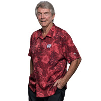 Image For Tommy Bahama Fuego Floral Camp Shirt (Red)