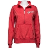 Image for Alta Gracia Women's Wisconsin ½ Zip Sweatshirt (Red) *