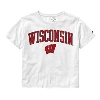 Image for League Women's Wisconsin Crop Top (White)
