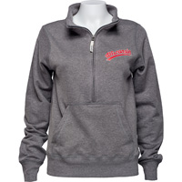 Cover Image For Alta Gracia Women's Wisconsin ½ Zip Sweatshirt (Charcoal) *