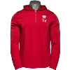 Image for Under Armour Wisconsin Hooded ¼ Zip Long Sleeve (Red) *