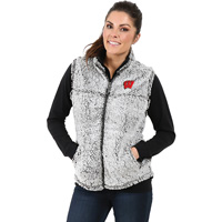 Image For Boxercraft Women's Wisconsin Sherpa Vest (Gray) *