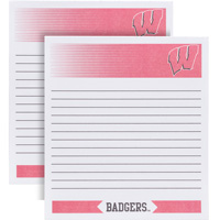 Cover Image For Fanatic Cards Wisconsin Badgers Memo Pad Two Pack
