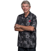 Image For Tommy Bahama Fuego Floral Camp Shirt (Black) Tall