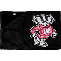 Image For To The Game LLC Bucky Badger Blanket (Black)