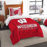 Image For The Northwest Twin Wisconsin Bedding Set (Red/White)