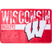 Image For The Northwest Wisconsin Badgers Foam Bath Mat (Red/White)