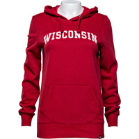 Image For '47 Brand Women's Arch Wisconsin Sweatshirt (Red)