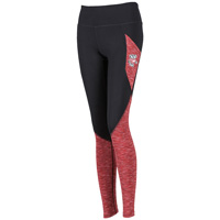 Image For ZooZatz Wisconsin Spacedye Leggings (Black/Red)