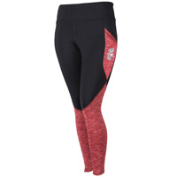 Image For ZooZatz Wisconsin Spacedye Leggings (Black/Red) Plus