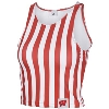 Image for ZooZatz Women's Striped Crop Tank Top (Red/White)*