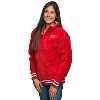 Image for ZooZatz Women's Wisconsin ¼ Zip Sherpa Fleece (Red)*