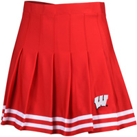 Image For ZooZatz Youth Wisconsin Badger Cheer Skirt (Red/White)
