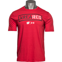 Image For Under Armour Area Red Badgers T-Shirt (Red)