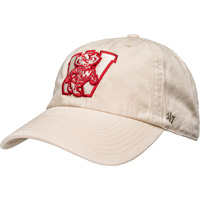 Cover Image For '47 Brand Adjustable Bucky Badger Vault Block W Hat (Khaki)
