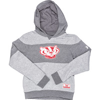 Cover Image For Under Armour Youth Striped Bucky Badger Sweatshirt (Grey)*