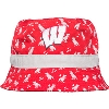 Image for New Era Infant Wisconsin Badgers Dino Bucket Hat (Red/Grey)