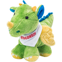 Image For Mascot Factory Wisconsin Dragon Plush Toy