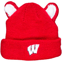 Cover Image For New Era Youth Badger Ears Knit Hat (Red)