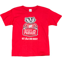 Cover Image For Top Promotions Youth Bucky On Parade T-Shirt (Red)
