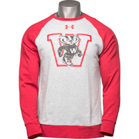 Image For Under Armour Vault Bucky Badger Crew Neck Sweatshirt (Gray)*