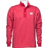 Image for Antigua Wisconsin ¼ Zip Button Sweater (Red) *
