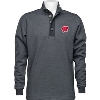 Image for Antigua Wisconsin ¼ Zip Button Down Sweater (Grey)*