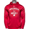 Image for Under Armour Wisconsin Hockey Hooded Sweatshirt (Red)