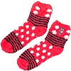 Image for For Bare Feet Wisconsin Bucky Badger Fuzzy Socks (R/W/B)