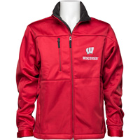 Image For Antigua Wisconsin Full Zip Jacket (Red)*
