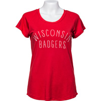 Image For Alta Gracia Women's Wisconsin Badger T-Shirt (Red) *